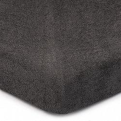 4Home Froté prostěradlo tmavě šedá, 90 x 200 cm