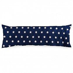 4Home Povlak na Relaxační polštář Náhradní manžel Stars Navy Blue, 50 x 150 cm