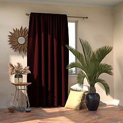 AmeliaHome Závěs Blackout Oxford Pleat burgundy, 140 x 245 cm