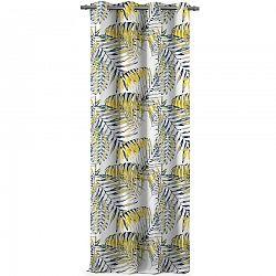 AmeliaHome Závěs Blackout Palm Leaves žlutá, 140 x 245 cm