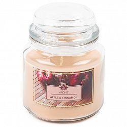 Arome Velká vonná svíčka ve skle Apple and Cinnamon, 424 g