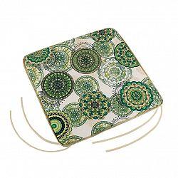 Bellatex Sedák Adéla hladký Mandala zelená, 40 x 40 cm