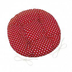 Bellatex Sedák Adéla kulatý prošívaný Srdíčka červená, 40 cm