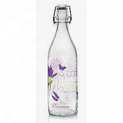 Cerve Skleněná láhev s Clip uzávěrem Lavande, 1 l