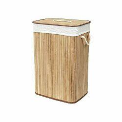 Compactor Bambusový koš na prádlo s víkem Compactor Bamboo - obdélníkový, přírodní, 43 x 35 x 60 cm