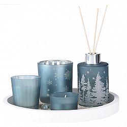 Dárková sada svíček a difuzéru Fragranza 5 ks, modrá