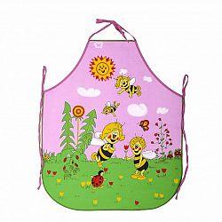 Forbyt Dětská zástěra Včelky růžová, 50 x 64 cm