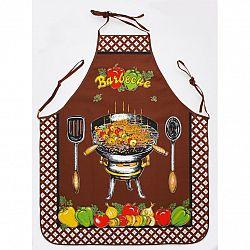 Forbyt Kuchyňská zástěra a chňapka Barbecue hnědá, 75 x 80 cm, 28 x 18 cm