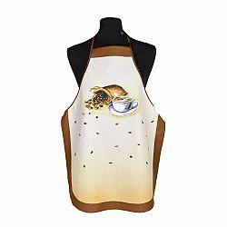 Forbyt Kuchyňská zástěra Káva hnědá, 63 x 80 cm