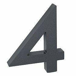 """Hliníkové číslo 4 v """"3D"""" provedení se strukturovaným povrchem RICHTER RN.100LV.4.AL.AM.3D"""