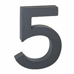 """Hliníkové číslo 5 v """"3D"""" provedení se strukturovaným povrchem RICHTER RN.100LV.5.AL.AM.3D"""