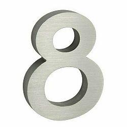 """Hliníkové číslo 8 v """"3D"""" provedení s broušeným povrchem. RICHTER RN.100LV.8.AL.3D"""