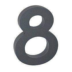 """Hliníkové číslo 8 v """"3D"""" provedení se strukturovaným povrchem RICHTER RN.100LV.8.AL.AM.3D"""