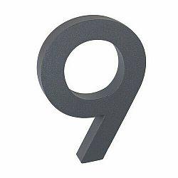 """Hliníkové číslo 9 v """"3D"""" provedení se strukturovaným povrchem RICHTER RN.100LV.9.AL.AM.3D"""