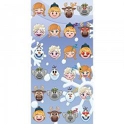 Jerry Fabrics Osuška Emoji Ledové království Frozen, 70 x 140 cm