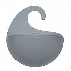 Koziol Koupelnový závěsný box Surf M antracitová, 6,5 x 21,6 x 25,3 cm