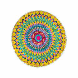 Modom Plážová osuška kulatá Fancy Flower, 150 cm