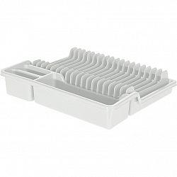 Odkapávač na nádobí, 35 x 30 x 6,8 cm, bílá