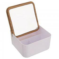 Orion Dóza plast/bambus kosmetická+zrcadlo WHITNEY