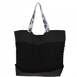 Plážová taška Croche, černá