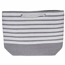 Plážová taška Stripes 52 x 38 cm, šedá