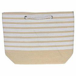 Plážová taška Stripes 52 x 38 cm, žlutá