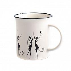 Porcelánový hrnek Tančící kočky 310 ml