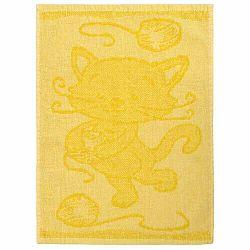 Profod Dětský ručník Cat yellow, 30 x 50 cm