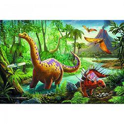 Puzzle TREFL Dinosauři na cestách 60 dílků