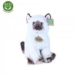 Rappa Plyšová sedící Siamská kočka, 25 cm