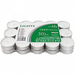 Sada čajových svíček Deko premium, 30 ks