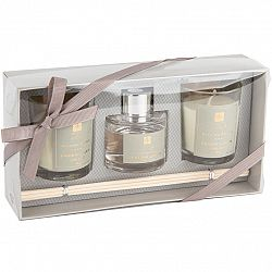 Sada svíček a difuzéru Aroma di Rogito Fresh linen, 3 ks