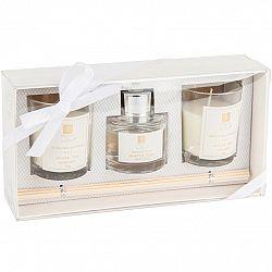 Sada svíček a difuzéru Aroma di Rogito White tea, 3 ks