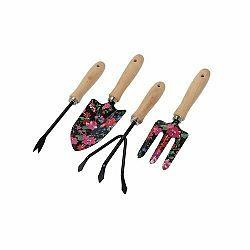 Sada zahradního nářadí Flower Tools černá, 4 ks