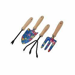 Sada zahradního nářadí Flower Tools modrá, 4 ks