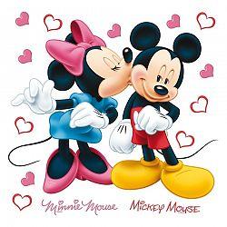 Samolepicí dekorace Minnie a Mickey, 30 x 30 cm