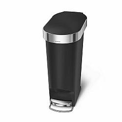 Simplehuman Pedálový oválný odpadkový koš 40 l, černá