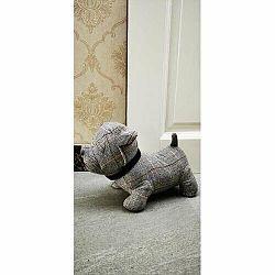 Textilní zarážka do dveří Pes, 28 cm