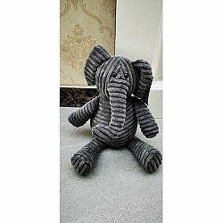 Textilní zarážka do dveří Slon, 22 cm