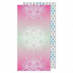 Towee Rychleschnoucí osuška MANDALA pink, 80 x 160 cm