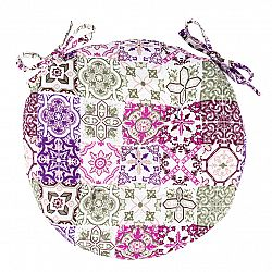 Trade Concept Sedák Pink Tiles prošívaný kulatý, 40 cm