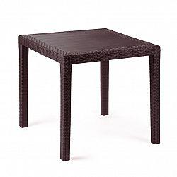 Zahradní stůl Ratan Lux, 73 x 75,5 x 75,5 cm, wenge